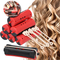 36Pcs Mixed Size Salon Hair Rollers Rubber Band Curler Hairdressing Maker Styling Tool Durable Perm Rods Rollers