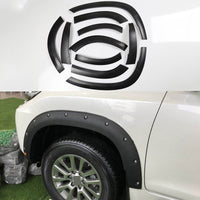 For Toyota Land Cruiser Prado fj150 2014-2017 Car Wheel Eyebrow Trim Rubbing Bumper strip Decorative stickers Car Accessories