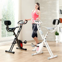 Foldable Mute Indoor Bike 8 Gear Magnetic Resistance Fitness Pedal Bicycle Men/Women Home Exercise Cycling Bike Trainer Sports