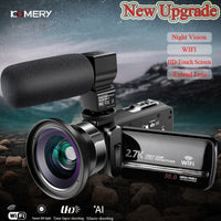 Original KOMERY Video Camera WiFi 2.7 k Vlogging Camcorder For Youbute Touch Screen 30MP 16X Digital Zoom Factory Handycam