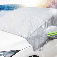 1 PC Car Windshield Snow Cover Sun Shade Protector Frost Proof Antifreeze And Sunshade - 3-Layer Thickened With Ear Half Cover