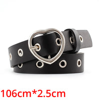 Women Black Leather Waist Western Belt Metal Buckle Waistband New Hot Cowgirl Belts