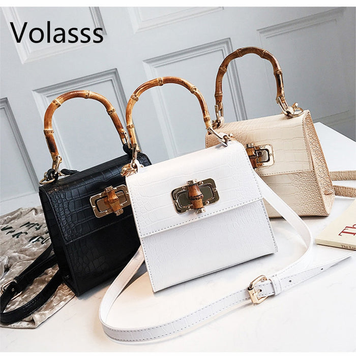 Crocodile Women Handbag Top Handle Bags Designer Lock Crossbody Shoulder Bag Small Flap