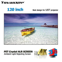 "Top class Ambient Light Rejecting ALR Projection Screen 120"" Ultra-thin border Frame for Xiaomi Wemax Mijia UST projectors"