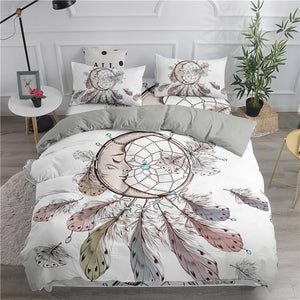 ZEIMON Bohemian Series 3D Dream Catcher Moon Bedding Set Home Decor Microfiber Bedspread Pillowcase Queen King Size Bed Sets