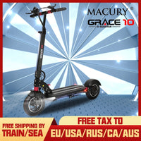 Macury GRACE 10 Electric Scooter Zero 10 Grace10 Zero10 Hoverboard Skateboard 2 Wheel 10 Inch 52V1000W Motor Adult Mini Foldable