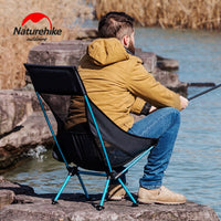 Naturehike Portable Outdoor Camping Chair Lightweight Foldable Fishing Chair Outdoor Beach Picnic BBQ Backrest Chair