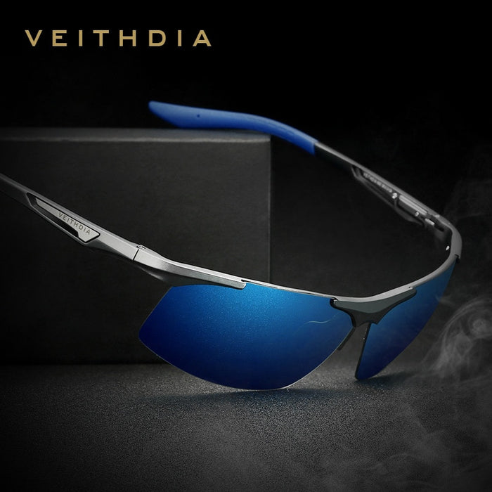 VEITHDIA Aluminum Magnesium Men's  Sunglasses Polarized Men Coating Mirror Glasses