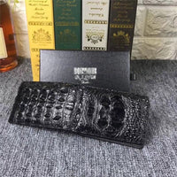 Brand Business Men Wallets Genuine Leather Multi-Card Position Small Wallet Top Quality Crocodile Leather Black Short Purse