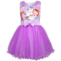 Snow Queen Girls Elsa Anna Dresses For Girls Birthday Gift Costume Party Princess Tutu Girs Summer