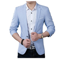 Brand New Men Blazer 2020 Casual Business Wedding Party Suits Men Slim Fit Suit jacket Male Plus Size S-5XL Blazer Masculino