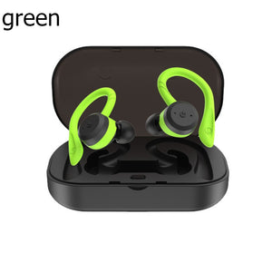 5.0 Bluetooth Headset TWS Wireless Earbuds Waterproof Noise Cancelling Headphones Suitable for Mountaineering Swimming Hiking
