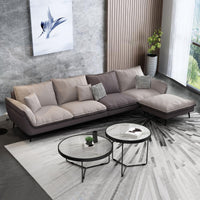 Living Room Simple Sofa Wash-Free Technology Fabric Sofa Lazy Leisure Foshan Outfit Furniture