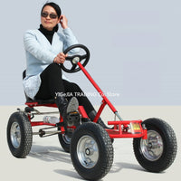 16 inch wheel adult go-karts, with hand brake adult pedal go kart, can load 100KG