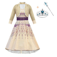 Frozen 2 Cosplay Queen Elsa Dresses Elsa Elza Costumes Princess Anna Dress Girls Party Vestidos Fantasia Kids Girls Clothing Set