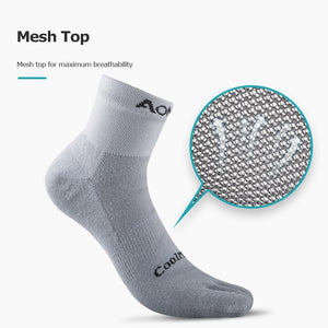 AONIJIE E4109 One Pair Low Cut Socks Quarter Athletic Toe Socks Perfect For Five Toed Barefoot Running Shoes Marathon Race