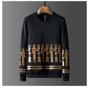 2019 Mens Autumn Clothing Gilding Sequined Hoodies Full Pullover Sweatshirts Casual Streetwear