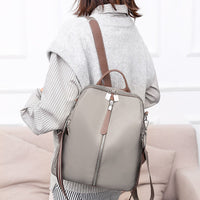 Bolsa Feminina Fashion Women Oxford Waterproof Backpack Anti-Theft Large Capacity Solid Color Casual Travel Shoulder Bags