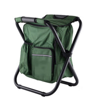 Portable Fishing Chairs Outdoor Travel Folding Backpack Chair Hiking Beach Backpacks Camping Stool Picnic Bag Lightweight Stool