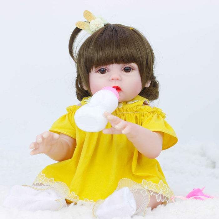 53cm Dolls can pee baby bebe doll reborn Simulation Baby Dolls Soft Silicone Reborn Toddler Baby