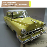 ARKO 1/32 Scale Classic Car Series 1954 Chevy Bel Air Sport Coupe Diecast Metal Car Model Toy For Gift,Collection,Kids