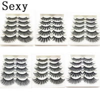5 pairs 3d mink hair false eyelashes natural Long Eye Lashes Wispy Makeup Extension Tools sexy mink eyelashes eyes lash cilios
