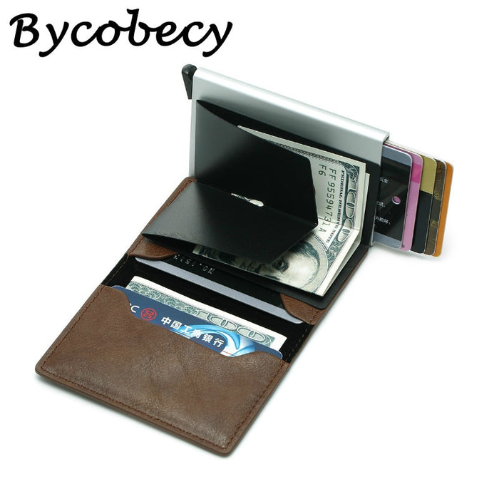 Bycobecy Unisex Purse Mini Aluminium Metal Slim Business Card Wallet Men Credit Card