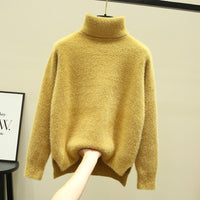 2019 Autumn Winter Wear Women Sweaters Christmas Sweater Top Knitted Pullovers Turtleneck