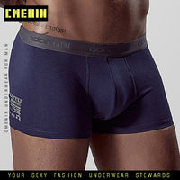 2020 New Soft Sexy Solid Cotton Men Underwear Boxer Breathable Men Underpants Boxers Shorts Cuecas Modal Boxershorts Man AD304