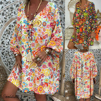 2019 Brand New Style Women Beach Dress Long Sleeve Casual Boho Kaftan Tunic Gypsy Ethnic