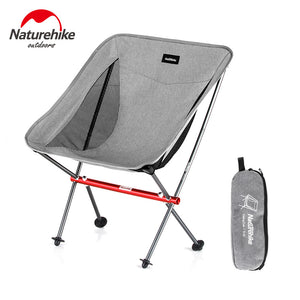 Naturehike Foldable Fishing Chair Portable Ultralight Folding Camping Chair Compact Aluminum Beach Chair Hiking Picnic Chair