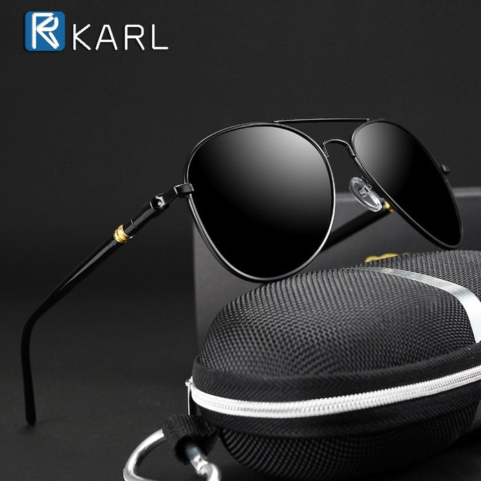 Classic Sunglasses Polarized Men Driving Glasses Black Pilot Sun Glasses Brand Designer