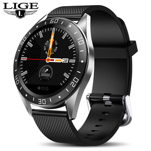 LIGE 2019 New Smart Watch Men LED Screen Heart Rate Monitor Blood Pressure Fitness tracker