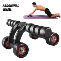 Abdominal muscle workout 4 wheel roller mute roller arm abdominal training shaping roller homegym training unisex fitness roller