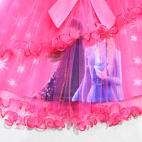Ice Snow Queen 2 Elsa Anna Dresses For Girls Birthday Gift Costume Party Princess Tutu Lace Girls Dress Children Clothing