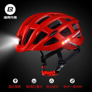 Cycling Helmets Riding Helmet Lights Rechargeable Mountain Road Bike with Light Helmet