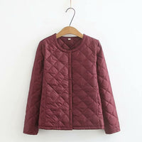 Plus Size Women's Light Winter Coats Warm Slim Jackets Female Solid Oversized Outwear