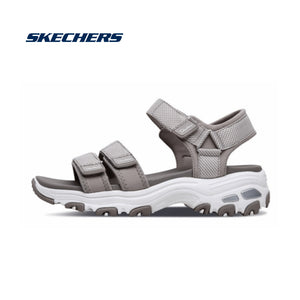Skechers Sandals Women Shoes D'lite Chunky Sandals Ladies Med Heel Wedges Walk Shoes Summer Beach Shoes Fashion 31657-TPE