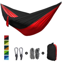 Single Double Hammock Adult Outdoor Backpacking Travel Survival Hunting Sleeping Bed