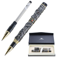 Luxury Jinhao Dragon Ballpoint Pen Vintage 0.7mm nib Metal Signature Pens Caneta Office Supplies Gift Box Set material escolar