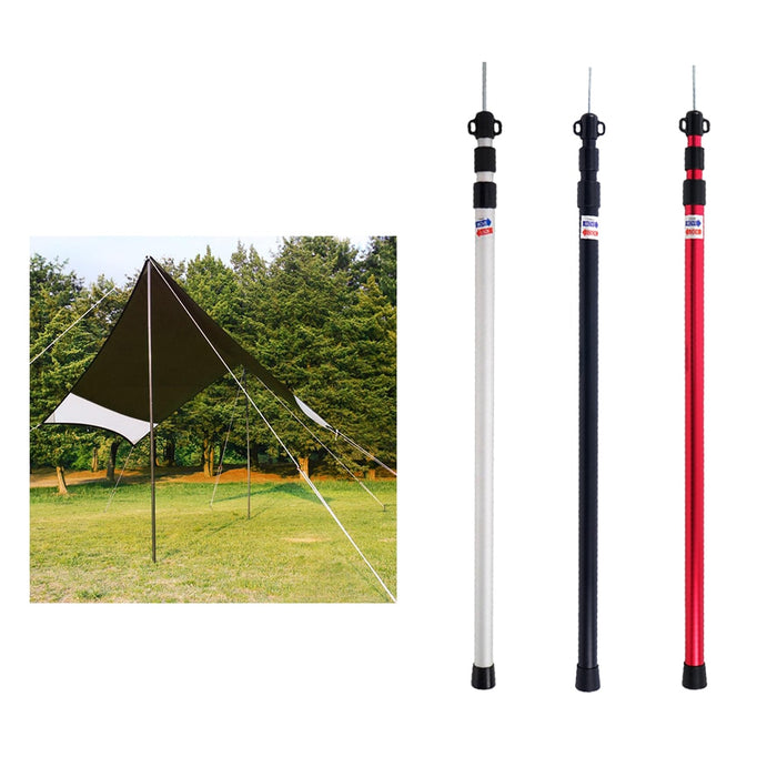 6061 Aluminium Alloy 3-Section Camping Tent Awning Support Rod Canopy Pole Outdoor