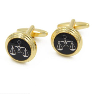 10pairs/lot Gold Scales of Justice Cufflinks Balance Scales Cuff Links Shirt Cuff Buttons Men's Jewelry Wholesale