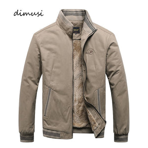 DIMUSI Winter Mens Bomber Jackets Casual Male Outwear Fleece Thick Warm Windbreaker Jacket Mens Military Baseball Coats Clothing