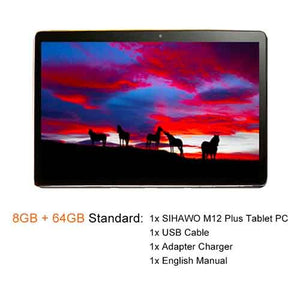 2019 New 12Inch 2560x1600 MTK 6797 X27 10 Core Android 8.0 Tablet PC 8GB RAM 64GB ROM Dual Camera 4G LTE 2 in 1 Tablets