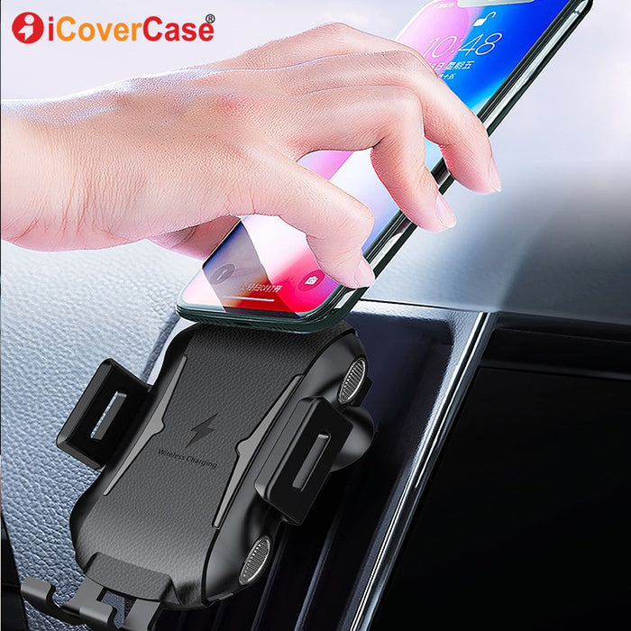 Fast Wireless Charger For Blackview BV6800 Pro BV5800 pro BV9500 BV9600 Pro Qi Charging Pad Power Case Car Phone Holder Stand (Black)