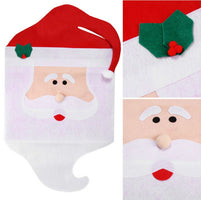 2 Pcs/Lot Santa Claus Hat Chair Covers Christmas Decoration Kitchen Dining Table Decor Home Party kitchen gadgets New Year