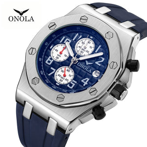 ONOLA Luxury brand Fashion cusual Sports Military Men Watch 2019 Multifunction waterproof analog stop watch designer watch men