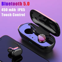 Y30 TWS Fingerprint Touch Bluetooth 5.0 Earphones Wireless 4D Stereo Headphones Active Noise Cancelling Gaming Headset for airdo