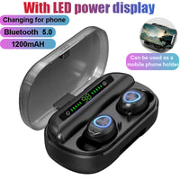 V10 Wireless Bluetooth Earphone Touch Stereo TWS Bluetooth 5.0 Digital LED Display with Charger Box for Sports Headphones