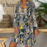 Plus Size Women Dresses 5XL Summer Boho Dress 2020 Spring Floral Print Red Beach Party Dresses Casual Loose Short Sundress
